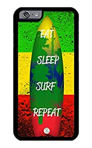 iZERCASE Rubber Case, Eat Sleep Surf Repeat, Fits iPhone 6, iPhone 6S TMobile, Verizon, AT&T, Sprint & International