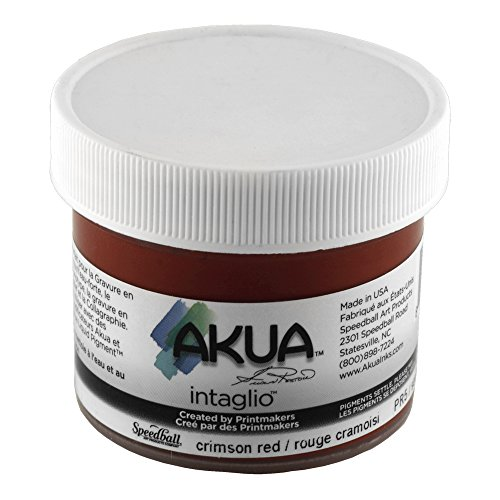 Akua Intaglio Print Making Ink, 2 oz Jar, Crimson Red (IICR2) by Akua