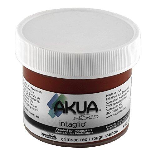 Akua Intaglio Print Making Ink, 2 oz Jar, Crimson Red (IICR2) by Akua