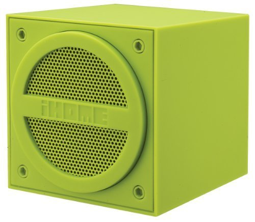 iHome Bluetooth Rechargeable Mini Speaker Cube - Green (iBT16QC)
