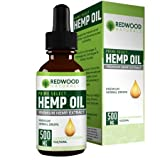 Cheap 500MG Hemp Oil Extract – All-Natural Formula – Delicious Peppermint Taste – Contains Omega 3 & 6 Fatty Acid – Promotes Heart Health – 30 Day Supply Per Bottle: Redwood Naturals