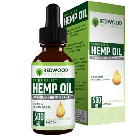 500MG Hemp Oil Extract - All-Natural Formula - Delicious Peppermint Taste - Contains Omega 3 & 6 Fatty Acid - Promotes Heart Health - 30 Day Supply Per Bottle: Redwood Naturals