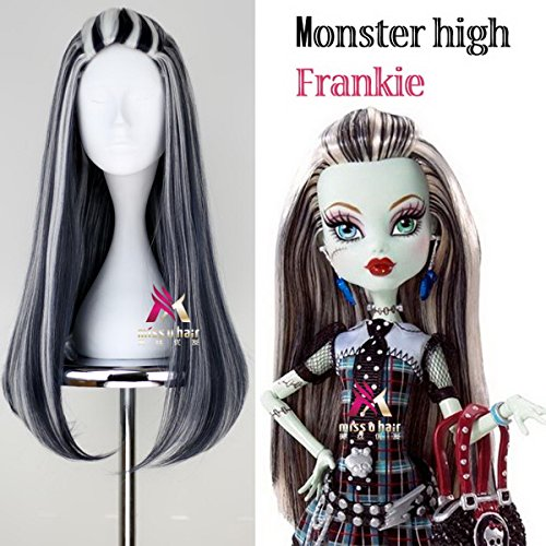 Xcoser Monster Cosplay High Anime Frankie Stein Womens Wig Hair for Halloween (Frankie Stein Wig)