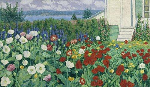 Wall Art Print Entitled John Leslie Breck - A Garden, Ironbound Island, Ma by Celestial Images | 16 x 9