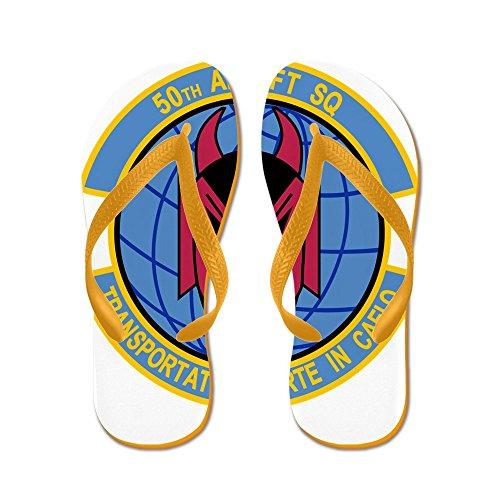 Cafepress 50th Airlift Squadron.png - Infradito, Sandali Infradito Divertenti, Sandali Da Spiaggia Arancione