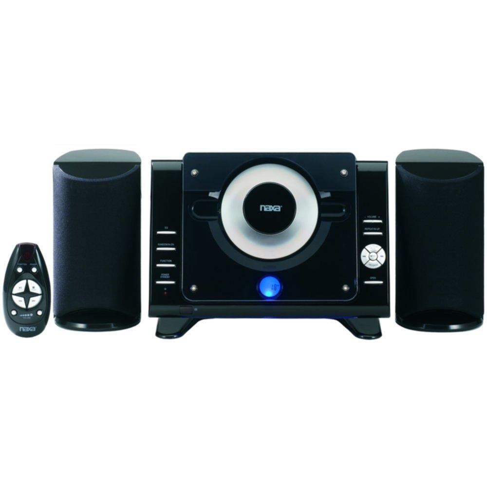 Naxa Digital MP3/CD Microsystem with AM/FM Stereo Radio - 1 Year Direct Manufacturer Warranty