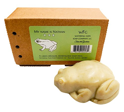 - Nathan - Honeysuckle natural, vegan frog bath soap with shea butter