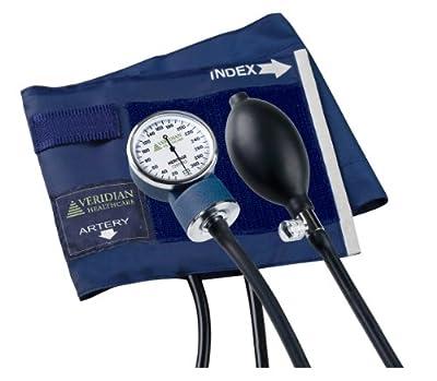 Veridian 02-1071 Aneroid Sphygmomanometer, Adult