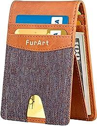 RFID Blocking Wallet, FurArt Slim Bifold Minimalist Front Pocket Wallets, Credit Card Holer for Men Women