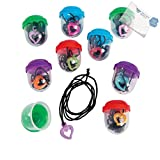 Bargain World Bulk Vending Machine Capsules with Heart Necklaces (With Sticky Notes)