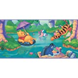 Blue Mountain Wallcoverings WFP6800 Pooh Prepasted Wall Border