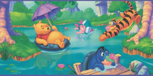 (Blue Mountain Wallcoverings WFP6800 Pooh Prepasted Wall Border)