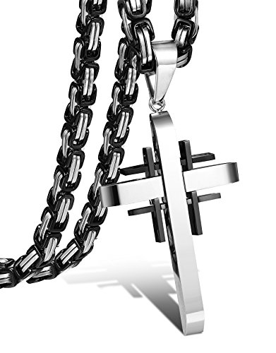 FIBO STEEL Stainless Necklace Byzantine