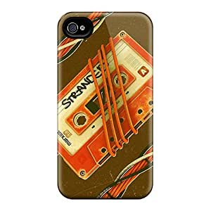 Fashionable Style Case Cover Skin For Iphone 4/4s- Retro Casette Tape Wallpaper by supermalls
