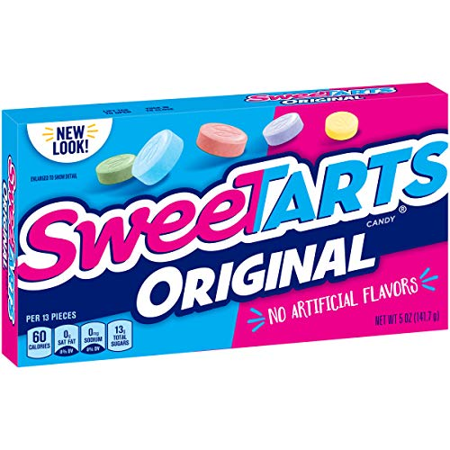 - SweeTARTS Original, Assorted Flavors, Theater Box, 5 Oz, Pack of 10