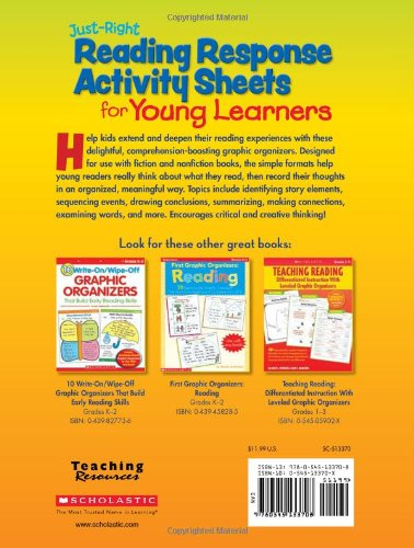 Amazon.com: Just-Right Reading Response Activity Sheets for Young ...