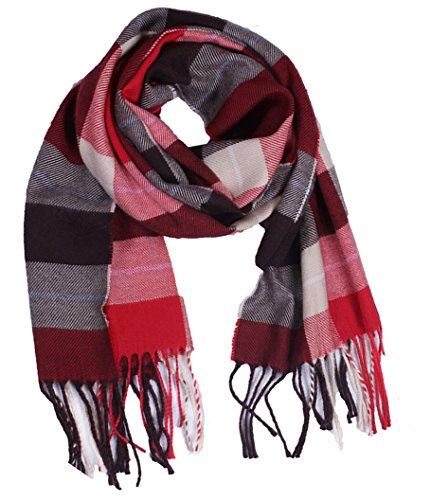 Wander Agio Kids Scarf Warm Shawls Large Scarves Parent-child Scarf Child Plaid Scarfs Red Brown