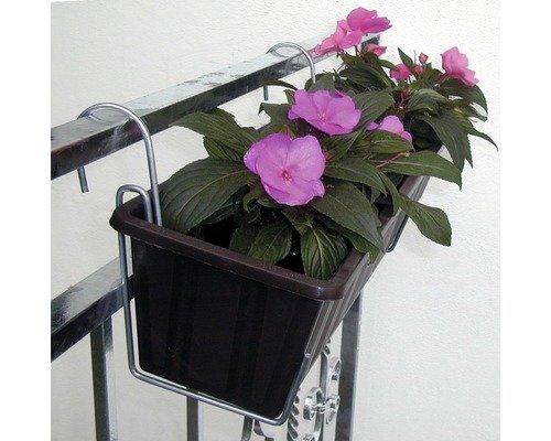 Blumenkastenhalter Zink, Farbe Silber, Länge 29 cm