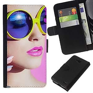 KLONGSHOP // Tirón de la caja Cartera de cuero con ranuras para tarjetas - stil devushka makiyazh ochki - LG OPTIMUS L90 //