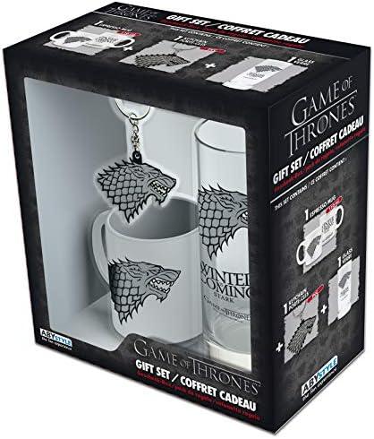 ABYstyle – Juego de Tronos – Paquete de Stark – Vaso + llavero + mini taza: Amazon.es: Juguetes y juegos