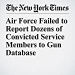 Air Force Failed to Report Dozens of Convicted Service Members to Gun Database | Richard A. Oppel Jr.