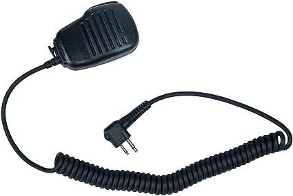 Two Way Radio Walkie Talkie 2 Pin Radio Handheld Microphone Speaker for Motorola