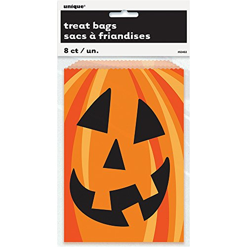 Happy Pumpkin Halloween Cookie Bags, -