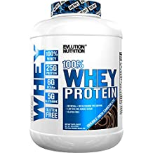 Evlution Nutrition 100% Whey Protein, 25g of Whey Protein, 6g of BCAA's, 5g of Glutamine, Gluten Free Double Rich Chocolate 4 LB