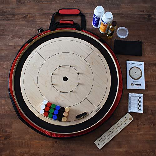 The Black Tournament Board Crokinole Kit (Meets NCA Standards)