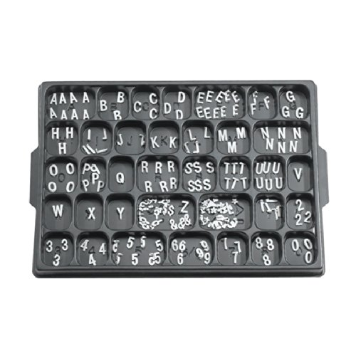 Aarco 1/2' Helvetica Universal Single Tab Letter and Number Double Set - 330 Characters