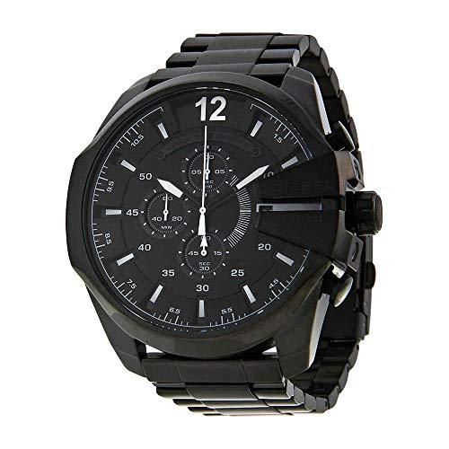 - Diesel Men's Mega Chief Quartz Stainless Steel Chronograph Watch, Color: Black (Model: DZ4283)