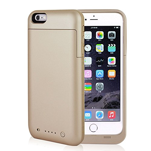 Battery Case for iPhone 6Plus / 6sPlus, NOVPEAK [U.S. Warranty] 6800mah External Backup Battery Charger Case Cover Power Bank Pack for Apple iPhone 6 Plus / 6sPlus 5.5 Inch (Gold)