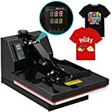 SUNCOO Digital Clamshell High Pressure Heat Press Machine Transfer Sublimation for T-Shirt 15 x 15