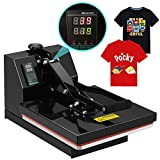 SUNCOO 4 in 1 Digital Clamshell High Pressure Heat Press Machine Transfer Sublimation for T-Shirt/Mug/Hat /Plate/Cap 15 x 15
