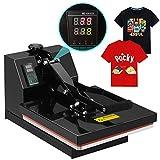 heat press and printer - SUNCOO Digital Clamshell High Pressure Heat Press Machine Transfer Sublimation for T-Shirt 15 x 15