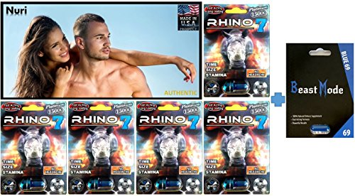 Beast Mode Rhino Best Male All Natural Enhancement Sexual Pill Authentic (715K(5) (One Rhino)