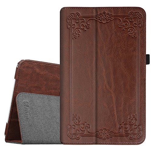 Fintie Folio Case for Samsung Galaxy Tab E 9.6 - Slim Fit Premium Vegan Leather Cover for Tab E/Tab E Nook 9.6-Inch Tablet (SM-T560/T561/T565 & SM-T567V Verizon 4G LTE Version), Vintage Antique Bronze