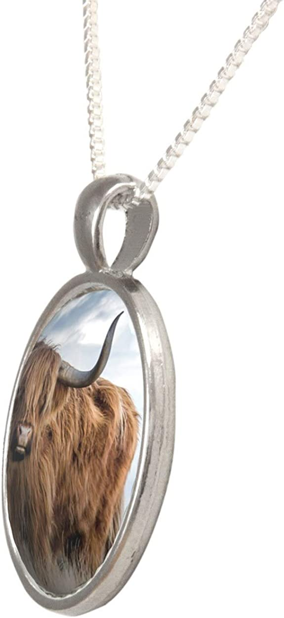 Arthwick Store Photograph of a Bull in The Prairie Pendant Necklace