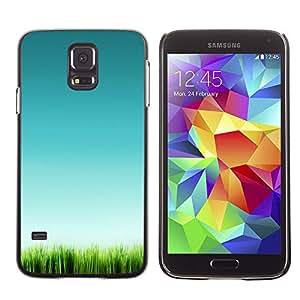 X-ray Impreso colorido protector duro espalda Funda piel de Shell para SAMSUNG Galaxy S5 V / i9600 / SM-G900F / SM-G900M / SM-G900A / SM-G900T / SM-G900W8 - Grass Green Nature Clean Pure