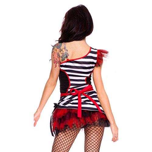 GGTBOUTIQUE - Robe - Trapèze - Femme noir Black/Red