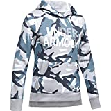 Under Armour Rival Fleece Wordmark Hoodie, Mod Gray (011)/White, Youth Large
