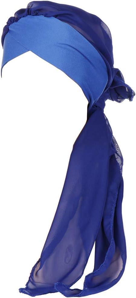 Amorar Chemo Turban Hijab Femmes Cancer Bonnets /Écharpes en Mousseline De Soie Bandana Queue Chapeau T/ête Wrap Bandeaux Foulard pour Patients Canc/éreux Perte De Cheveux Chimioth/érapie Musulman