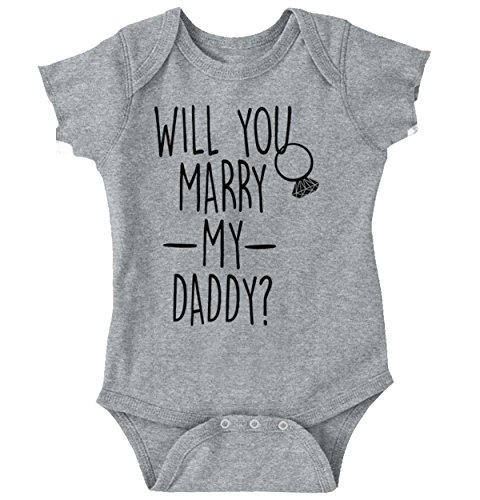 Brisco Brands Marry Daddy Funny Shirt | Cool Baby Clothes Cute Gift Propose Romper - Park North Mall In Stores