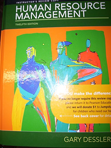 Human Resource Management, by Dessler, 12th Edition, US