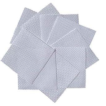 White Binca Squares (Pack de 10) Tela de punto de cruz de 6 hilos ...