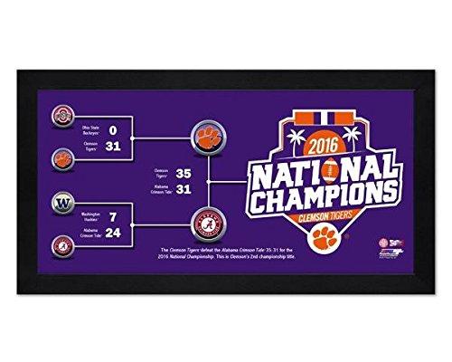 Clemson Tigers 7x13 Framed 2021 College Football National Champions Bracket