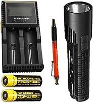 Combo: Nitecore EC4GT XP-L Hi Flashlight 1000Lm w/2x NL183 Batteries & D2 Cha