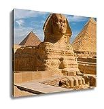Ashley Canvas, Full Sphynx Profile Pyramid Giza Egypt, Home Decoration Office, Ready to Hang, 20x25, AG5806645