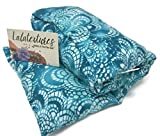 The Flax Sak Large Lavender Infused Microwavable Heating Pad With Washable Cover. Hot/Cold Pack Turquoise Shell