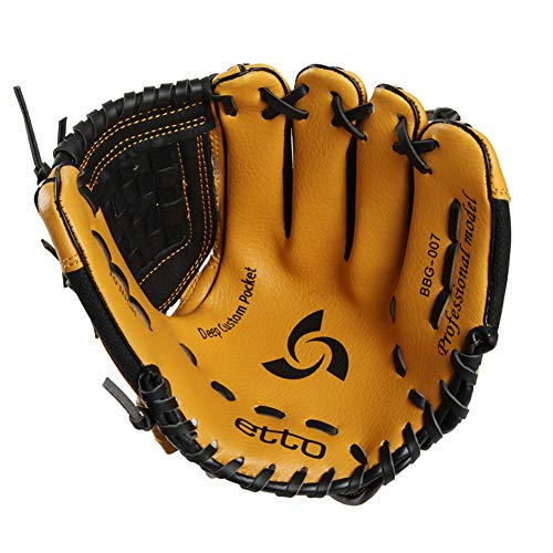 Sanqing Baseball Glove,with Baseball Catcher's Gloves Senior Professional PVC Left and Right Hand 10